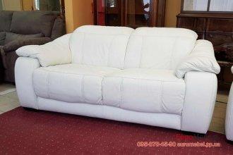 Двухместный кожаный диван релакс