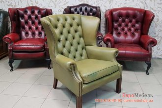Кожаное кресло Chiesterfield