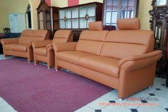 Кожаный комплект мягкой мебели 3+2+1