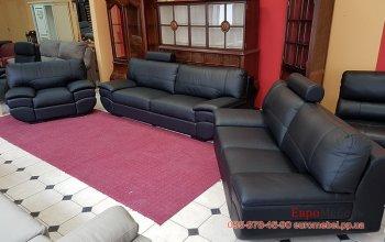 Кожаный комплект мягкой мебели 3 + 2 + 1