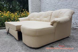 Новый кожаный раскладной диван