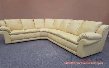 Большой кожаный угловой диван
