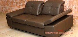 Шкiряний диван на ресепшн