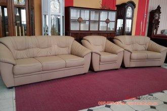 Кожаный комплект мебели 3+2+1