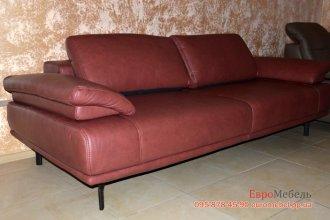 Шкiряний сучасний диван