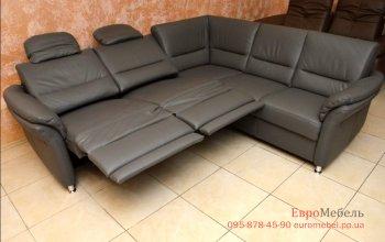 Шкiряний кутовий диван Polinova